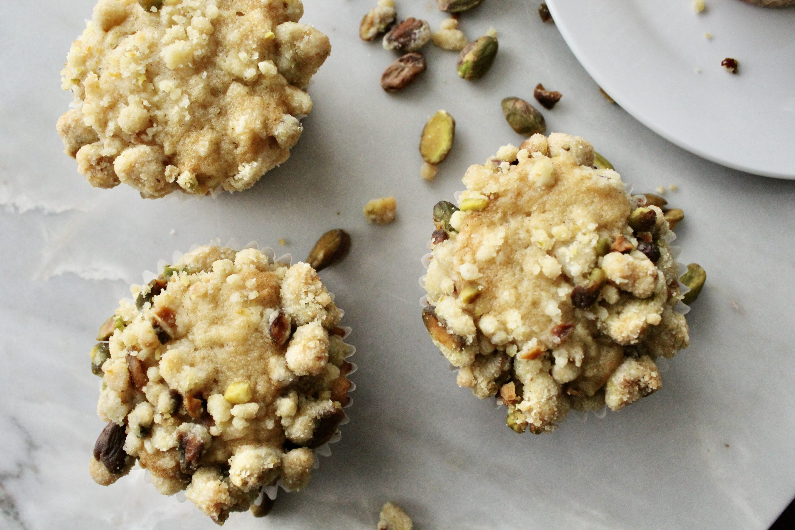 Spiced Apple and Pistachio Streusel Muffins